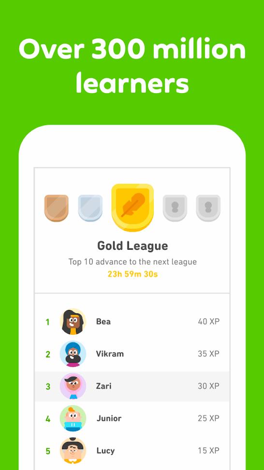 Duolingo app 2