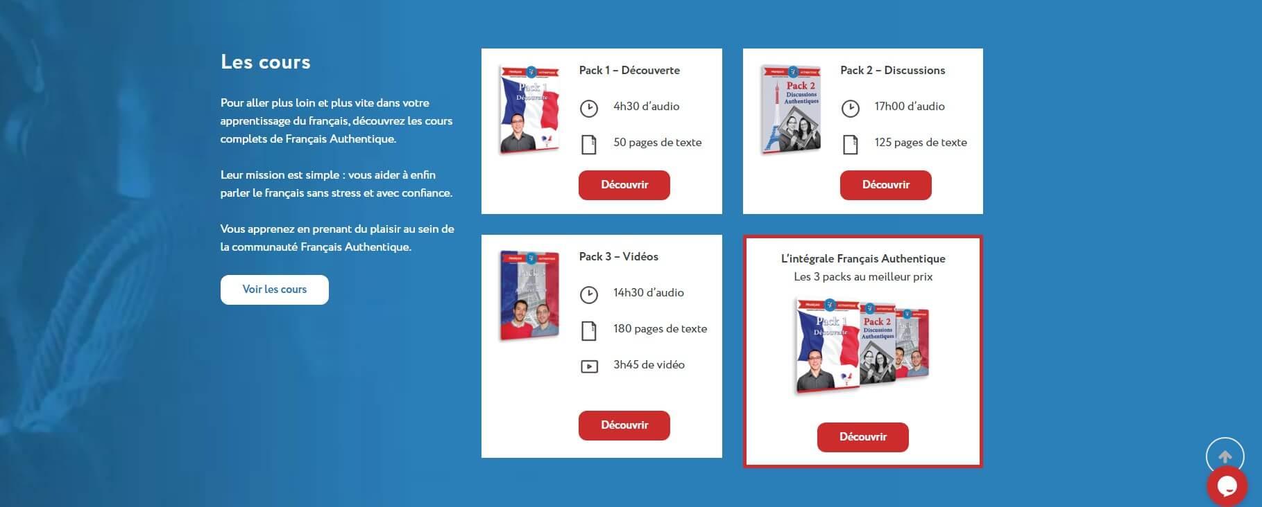 Francais Authentique - 18 Online French Courses
