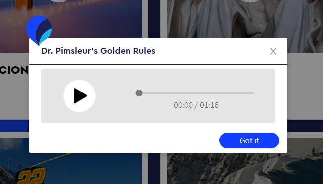 Pimsleur - Dr. Pimsleur's Golden Rules
