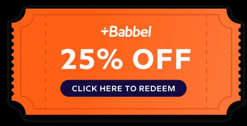 get 25% off 12 months of babbel