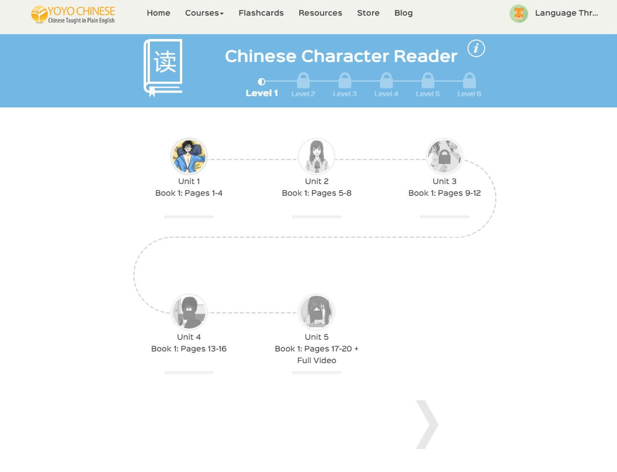 Chinese Character Reader - Language Throne