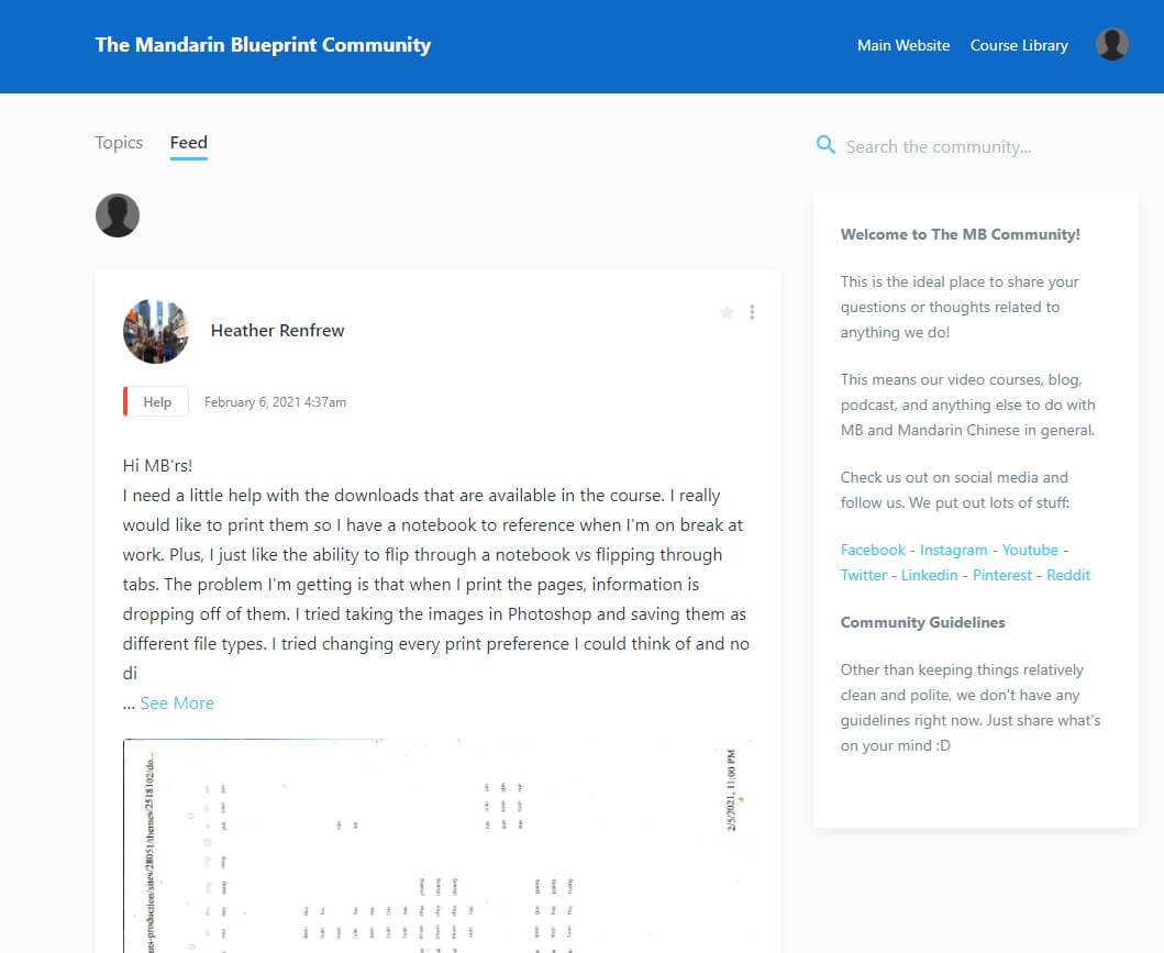 Mandarin Blueprint - Community